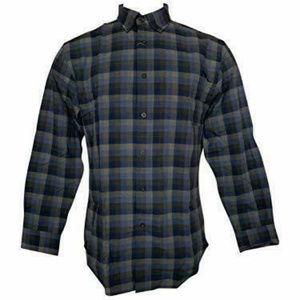 Pendleton Men's Flannel Shirt Blue Grey Plaid XL
